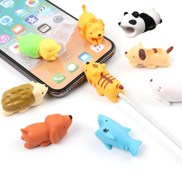Cute Animal Cable Protector for iPhone