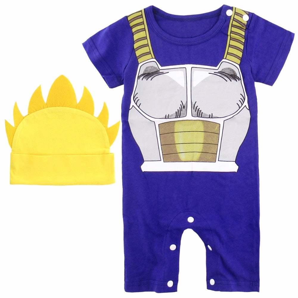 0b8e9a6ea Dragon Ball Z Vegeta Costume Romper Onesie - Final Flash Store