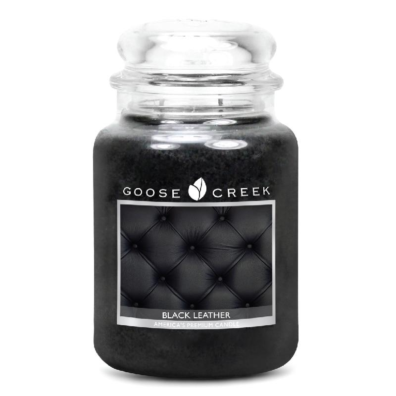 Black Leather Large Jar Candle