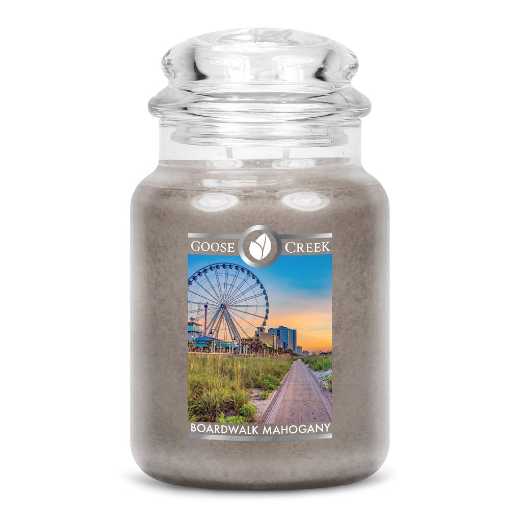 Boardwalk Mahogany Large Jar Candle