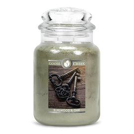 Burlwood & Oak Large Jar Candle