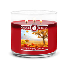 Colorful Leaves Large 3-Wick Candle