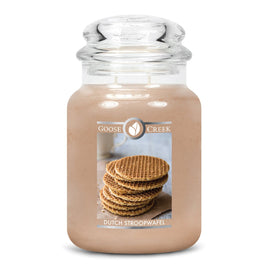 Dutch Stroopwafel Large Jar Candle