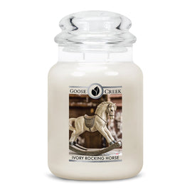 Ivory Rocking Horse Large Jar Candle