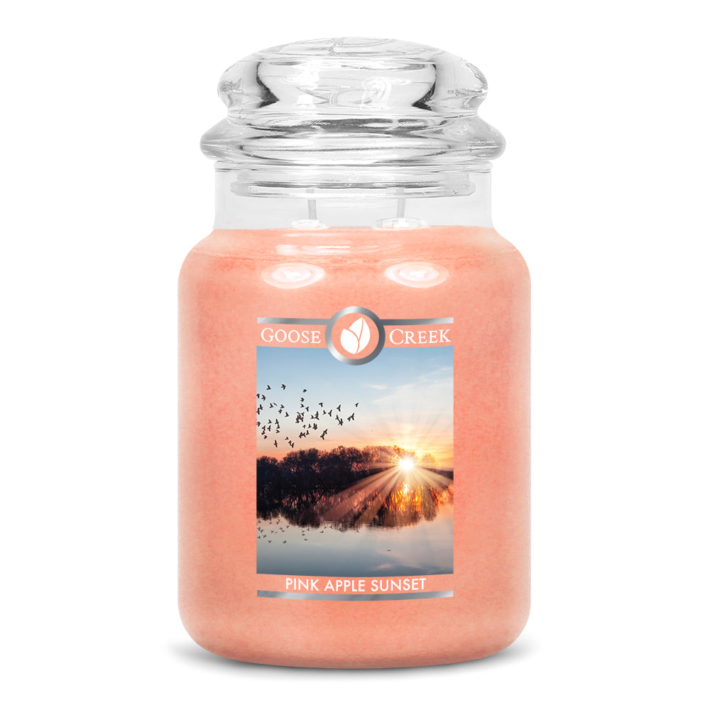 Pink Apple Sunset Large Jar Candle