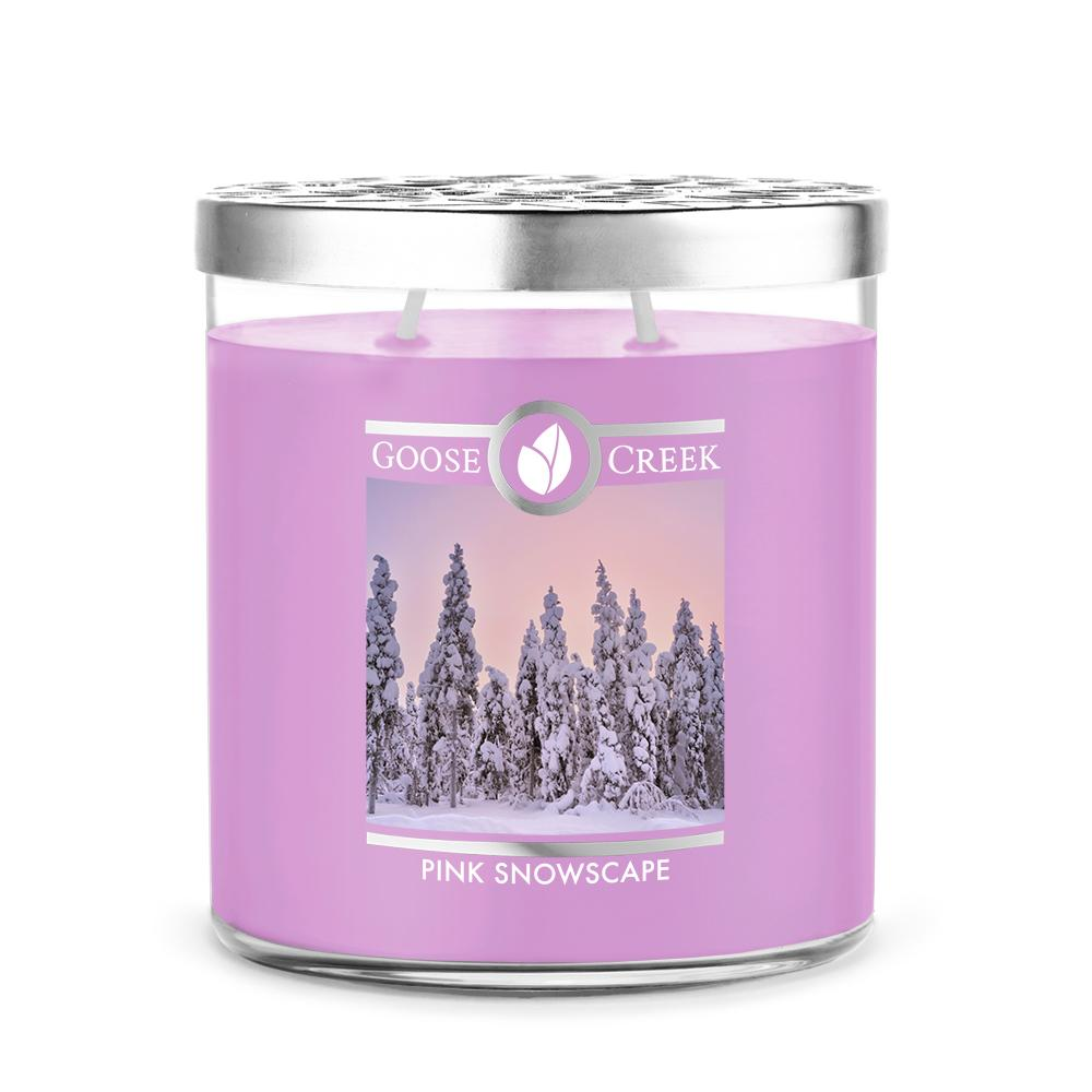 Pink Snowscape 16oz Large Jar Candle