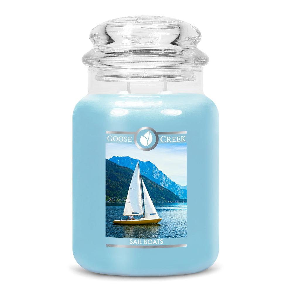 Sail Boats Large Jar Candle