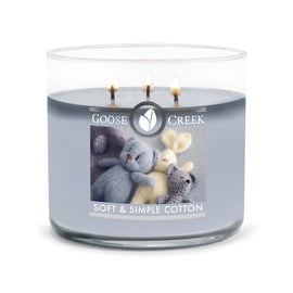 Soft & Simple Cotton Large 3-Wick Candle