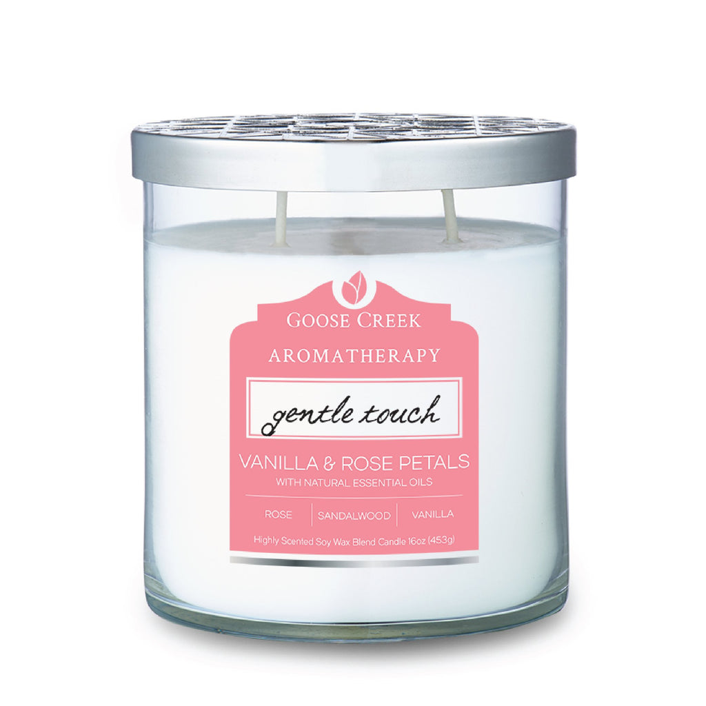 Vanilla & Rose Petals Aromatherapy Candle
