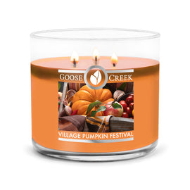 Village Pumpkin Festival Large 3-Wick Candle