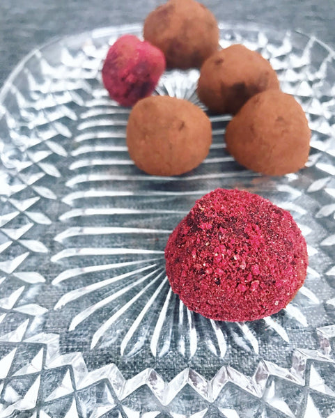 Easy truffles made with Nordic Wild Foods berry powder