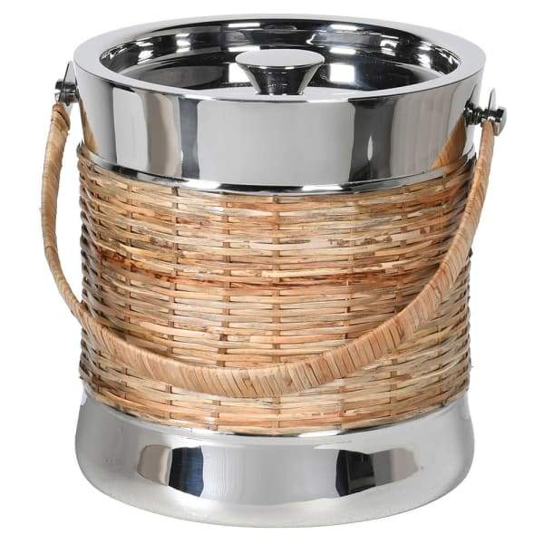 St Barts Nickel and Rattan Ice Bucket - Barnbury