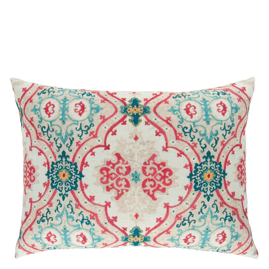 William Yeoward Valetta Peacock Cushion - Barnbury
