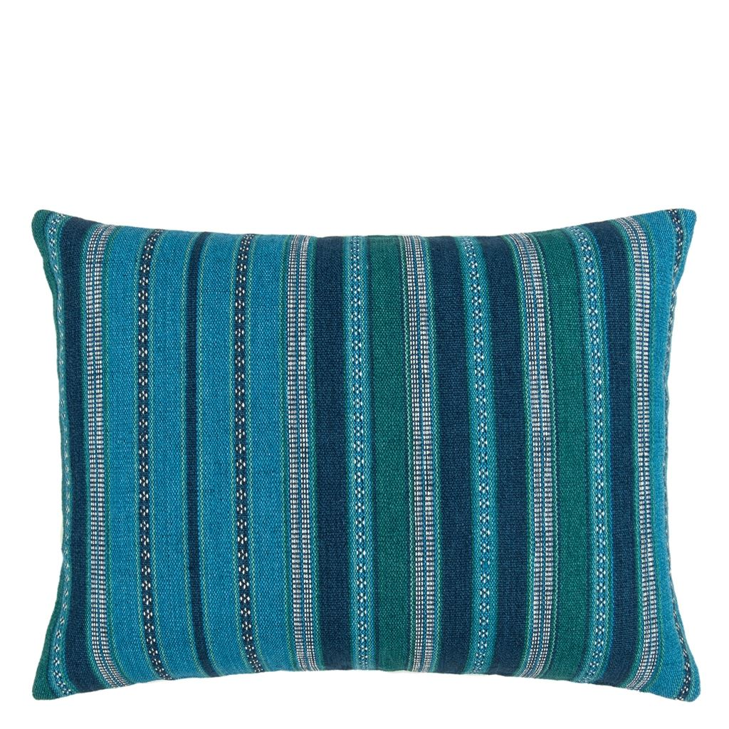 William Yeoward Almacan Peacock Cushion - Barnbury