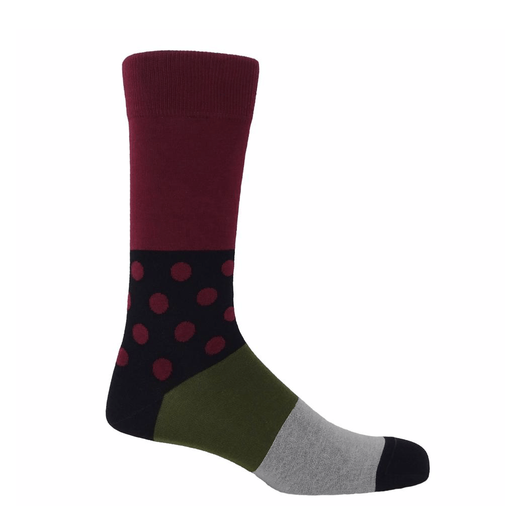 Burgundy Mayfair Socks - Barnbury