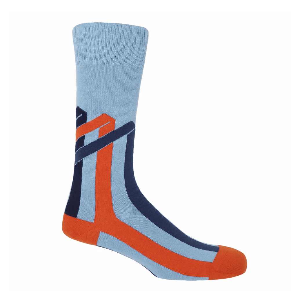 Sky Ribbon Stripe Socks - Barnbury