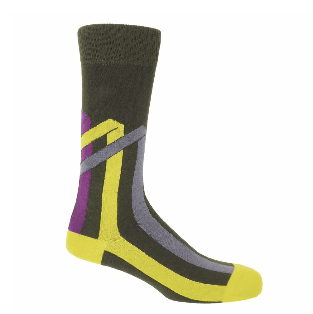 Pine Ribbon Stripe Socks - Barnbury
