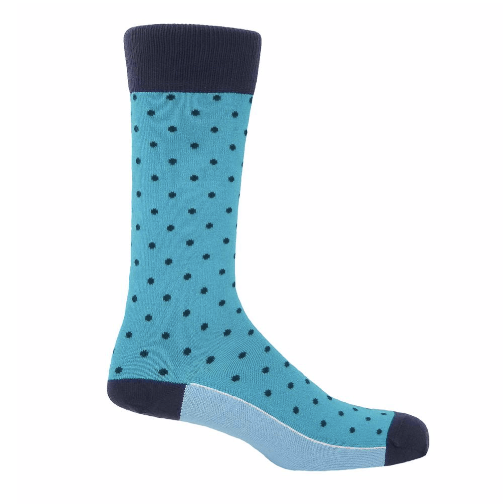 Azure Pin Polka Socks - Barnbury