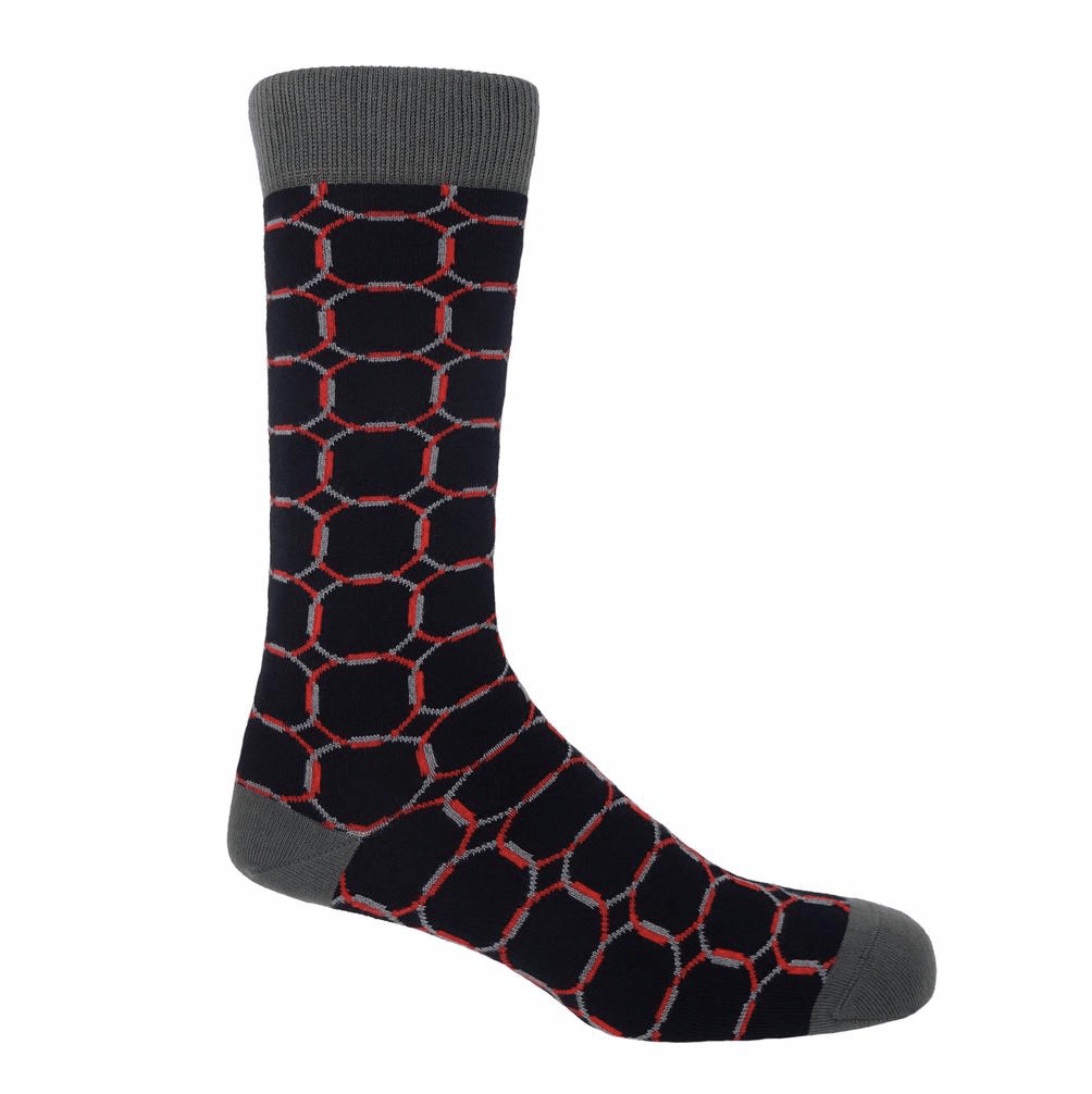 Black Linked Socks - Barnbury