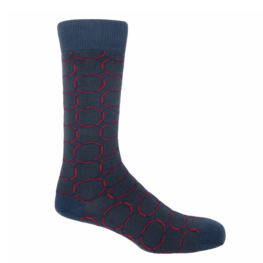 Navy Linked Socks - Barnbury