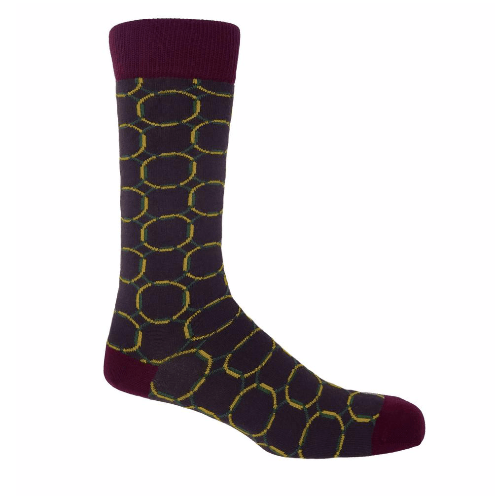 Purple Linked Socks - Barnbury