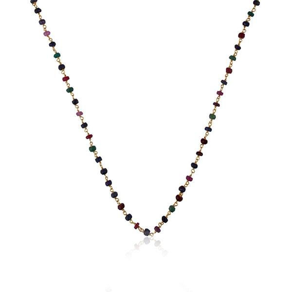 Gold Plated Sterling Silver Multi Tourmaline Necklace - Barnbury