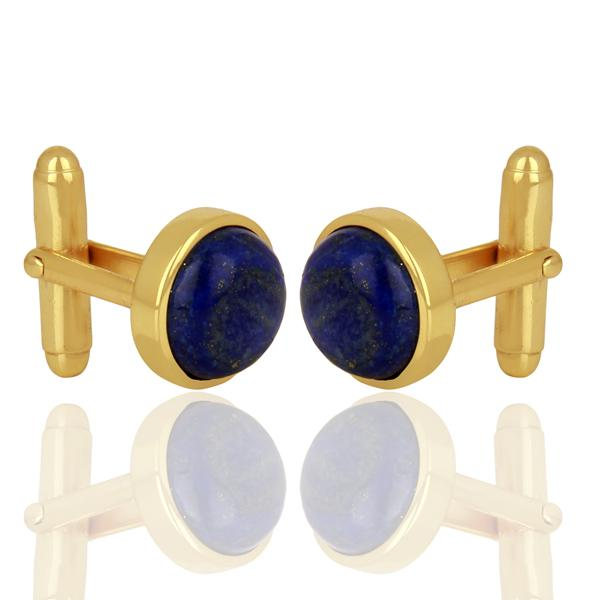 Lapis Gold Plated Sterling Silver Cufflinks - Barnbury