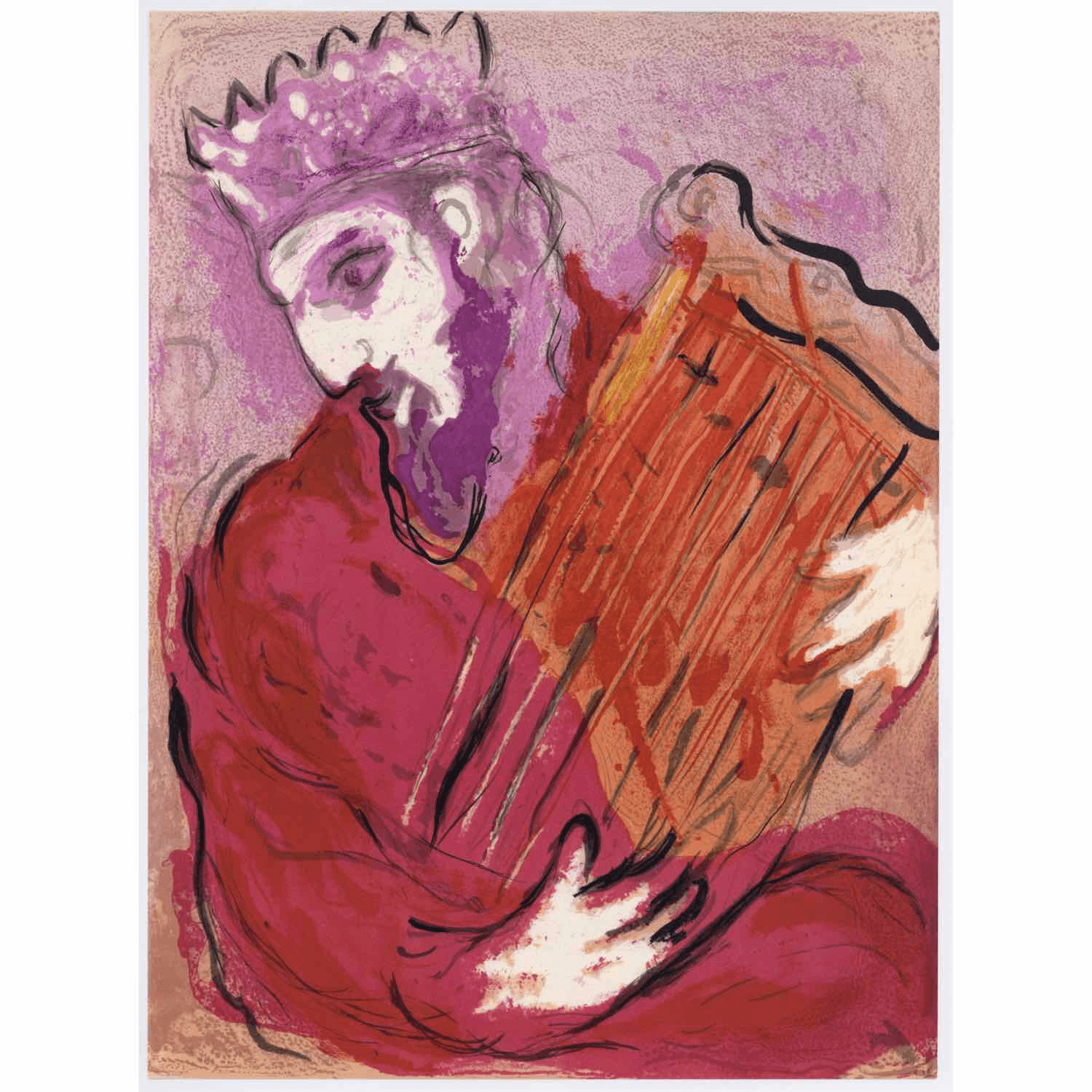 Marc Chagall - David and his Harp - Barnbury