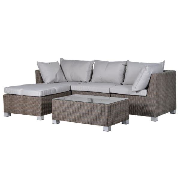 Hidcote Outdoor Corner Sofa and Coffee Table - Barnbury