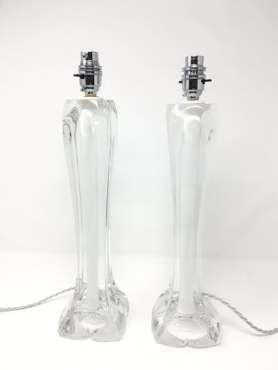 Two 1950's Paul Kedelv for Flygsfors Glass Lamps - Barnbury