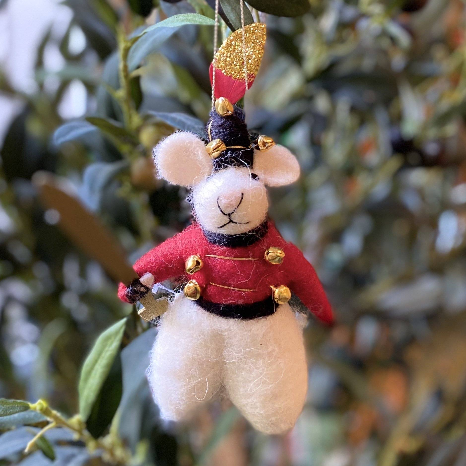 Major Mouse Hanging Christmas Decoration