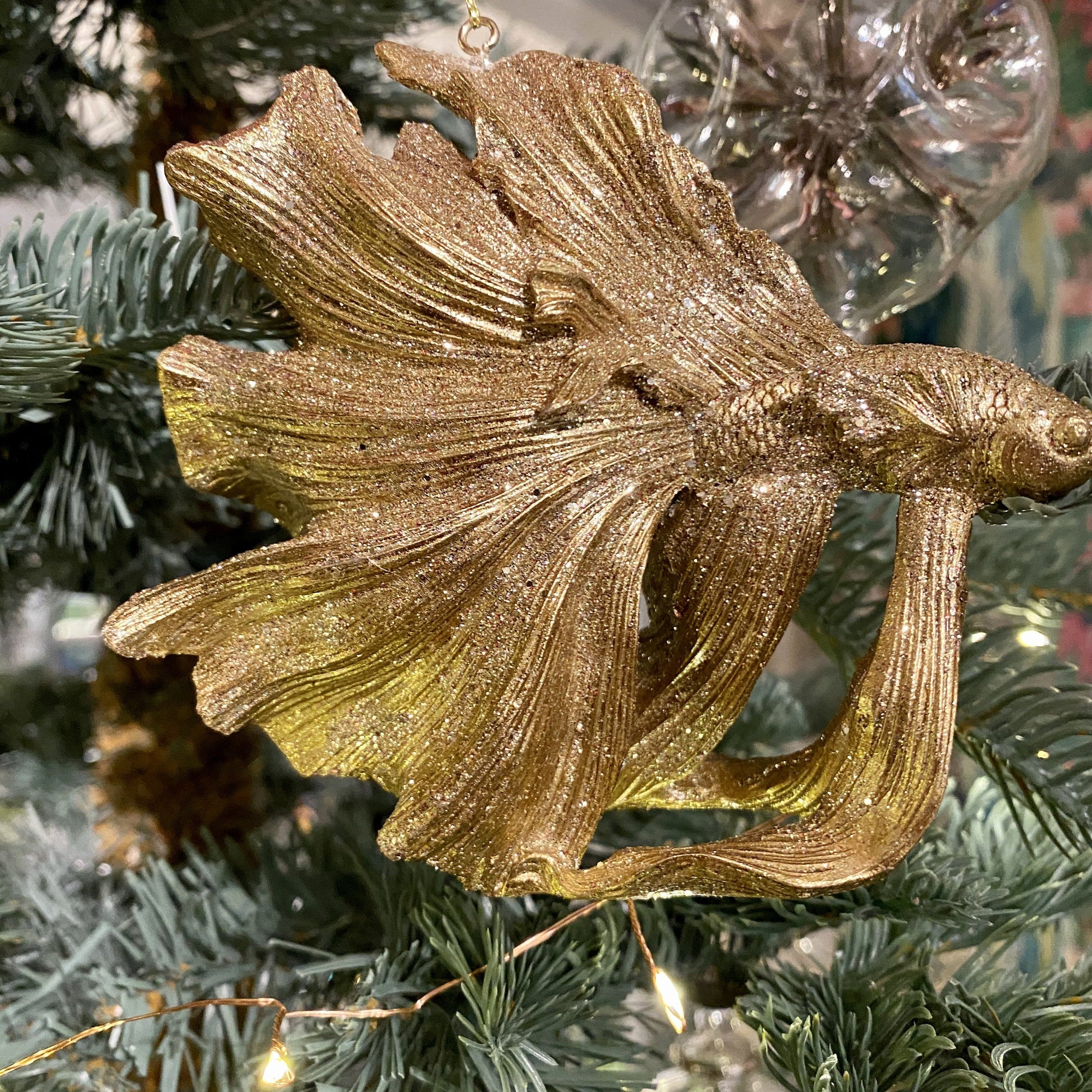 Golden Fantail Fish Hanging Decoration - Barnbury