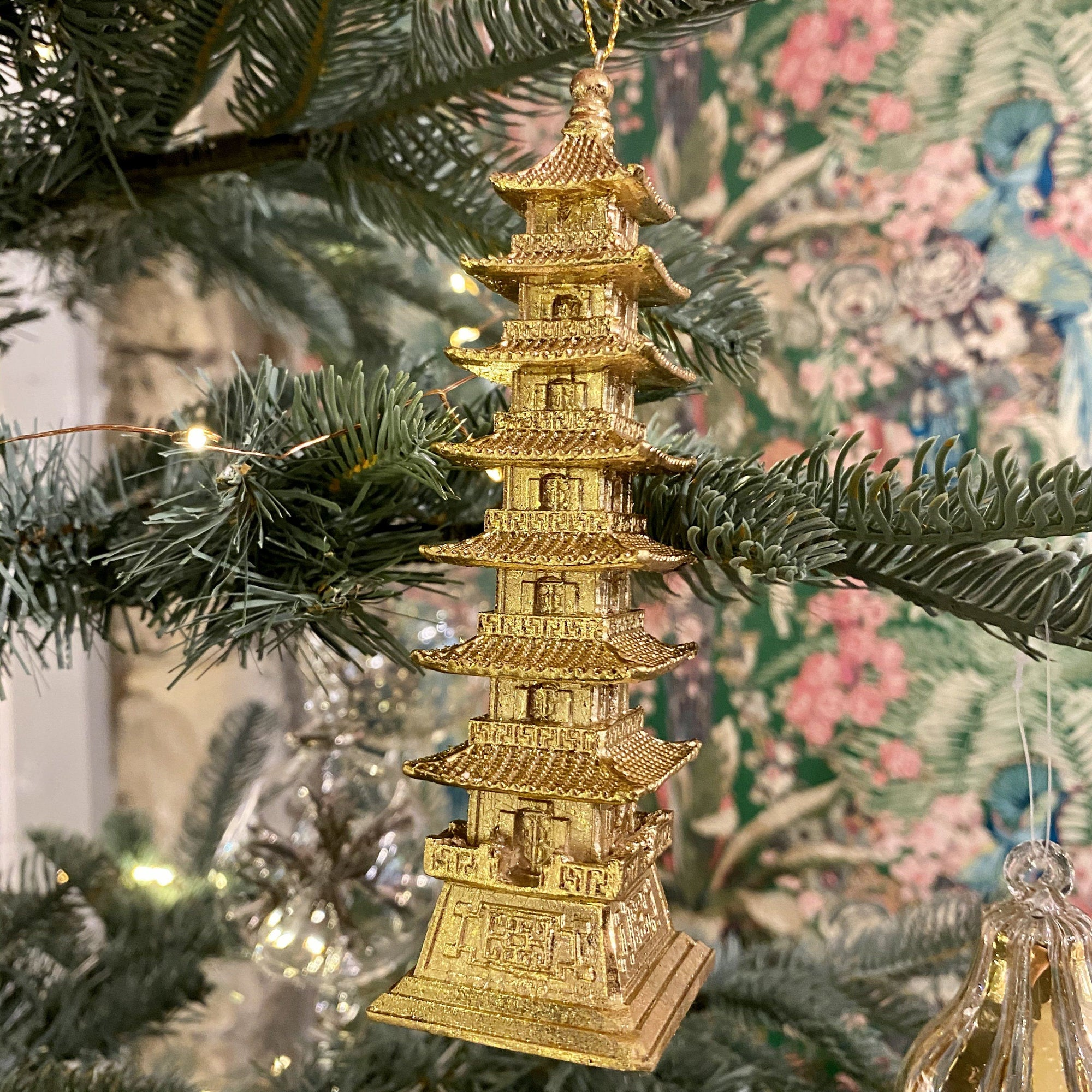 Golden Pagoda Hanging Decoration - Barnbury