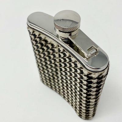 Printed Ponyskin Hip Flask - Barnbury