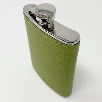 Green Calfskin Hip Flask