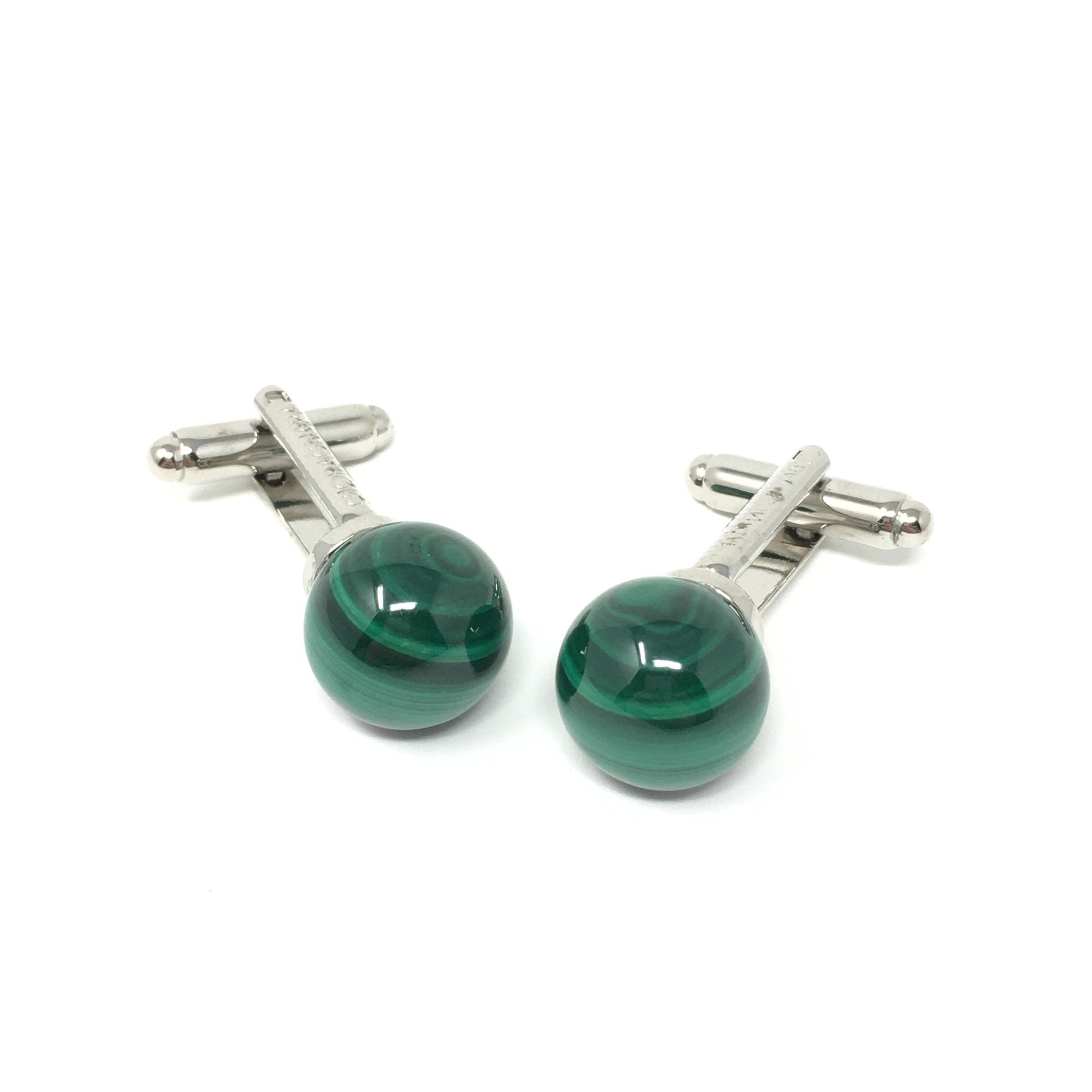 Sfera Malachite Cufflinks - Barnbury
