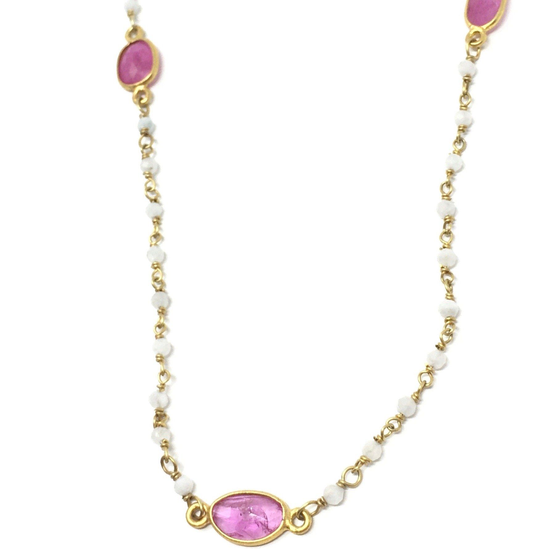 Ruby and Moonstone Necklace - Barnbury