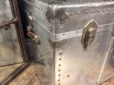 Vintage Aluminium Aviation Trunk