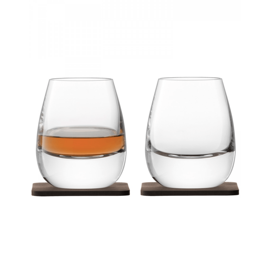 Islay Whisky Tumblers with Walnut Coasters - Barnbury