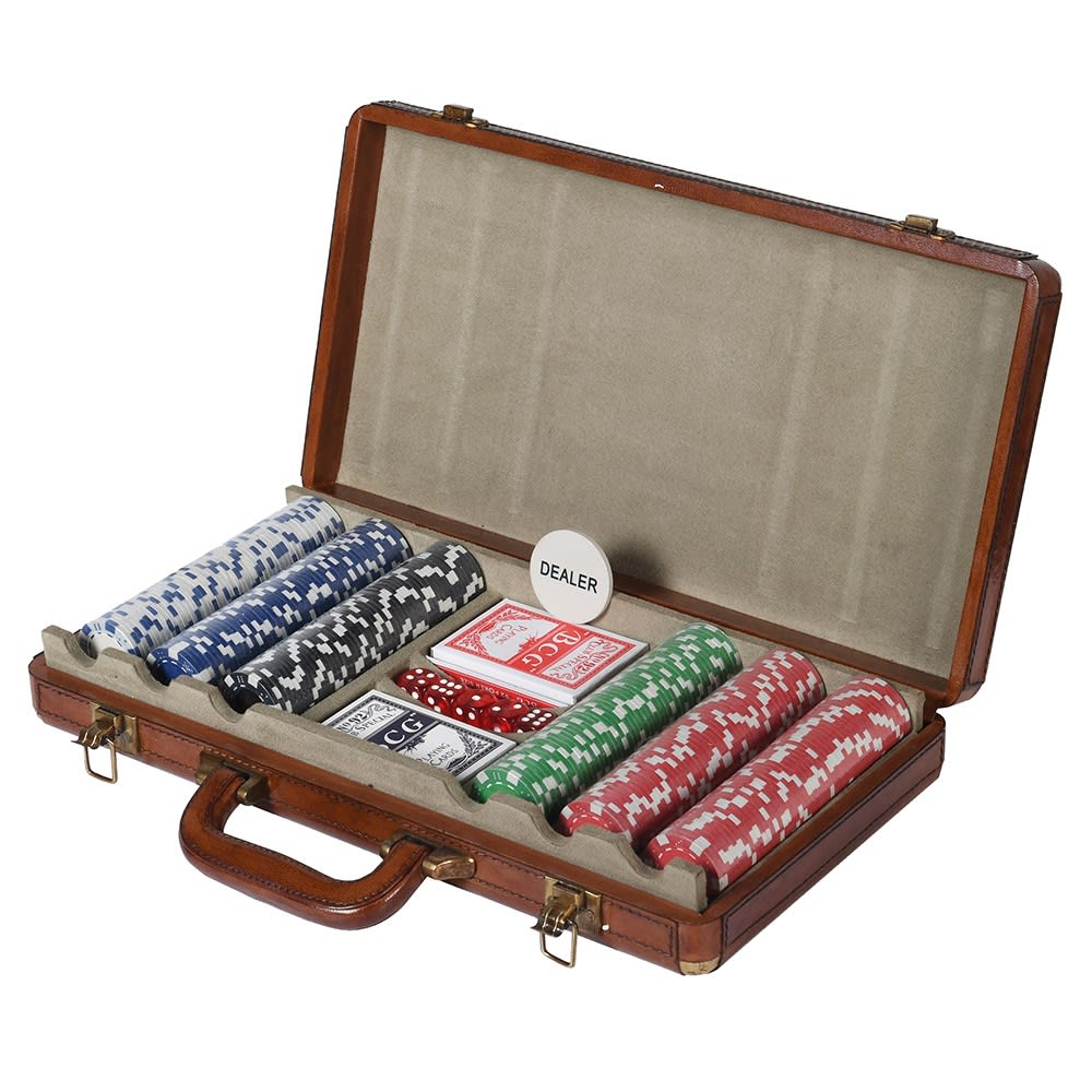 Mayfair Leather Poker Set - Barnbury