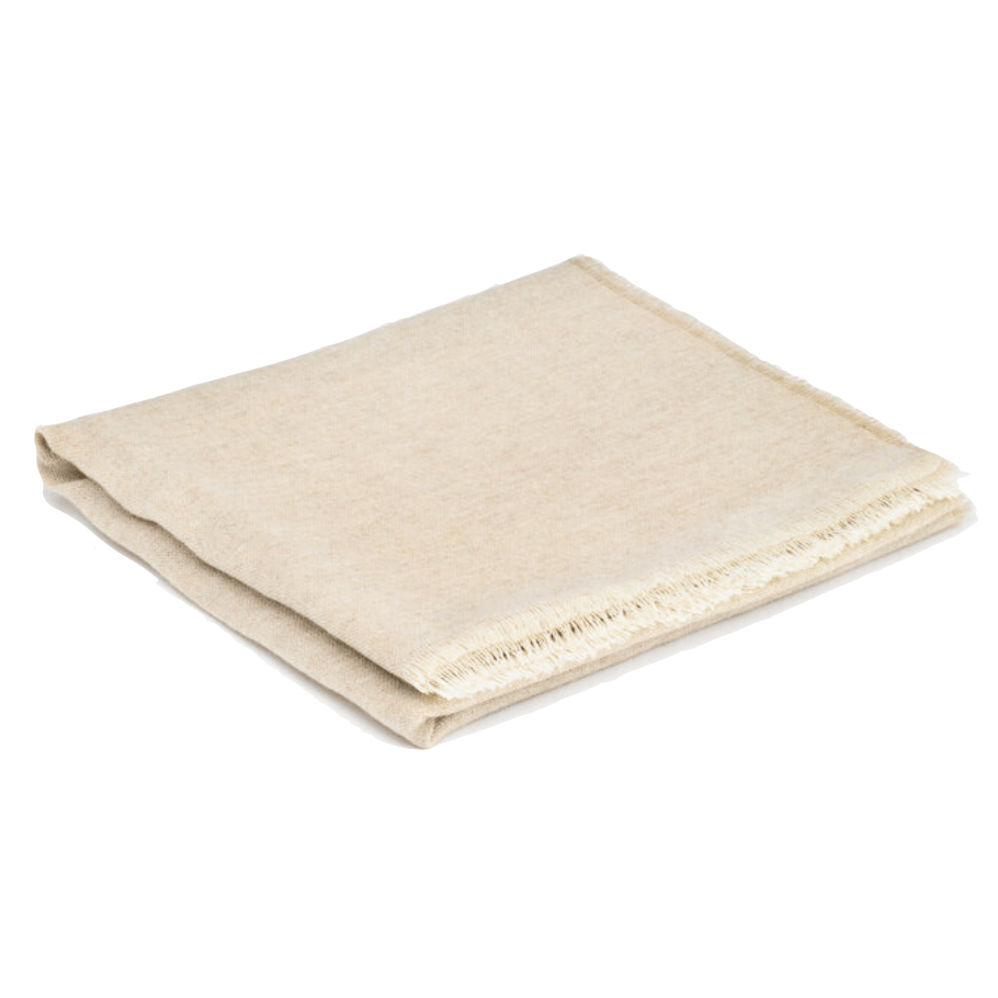 Natural Cashmere and Merino Lambswool Scarf - Barnbury