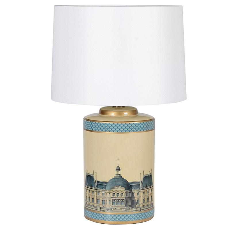 Le Grand Palais Ceramic Table Lamp & Shade - Barnbury