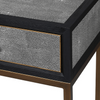Islington Black Oak and Faux Shagreen Console - Barnbury