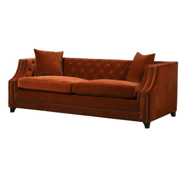 Burlington King Sofabed in Amber Velvet - Barnbury