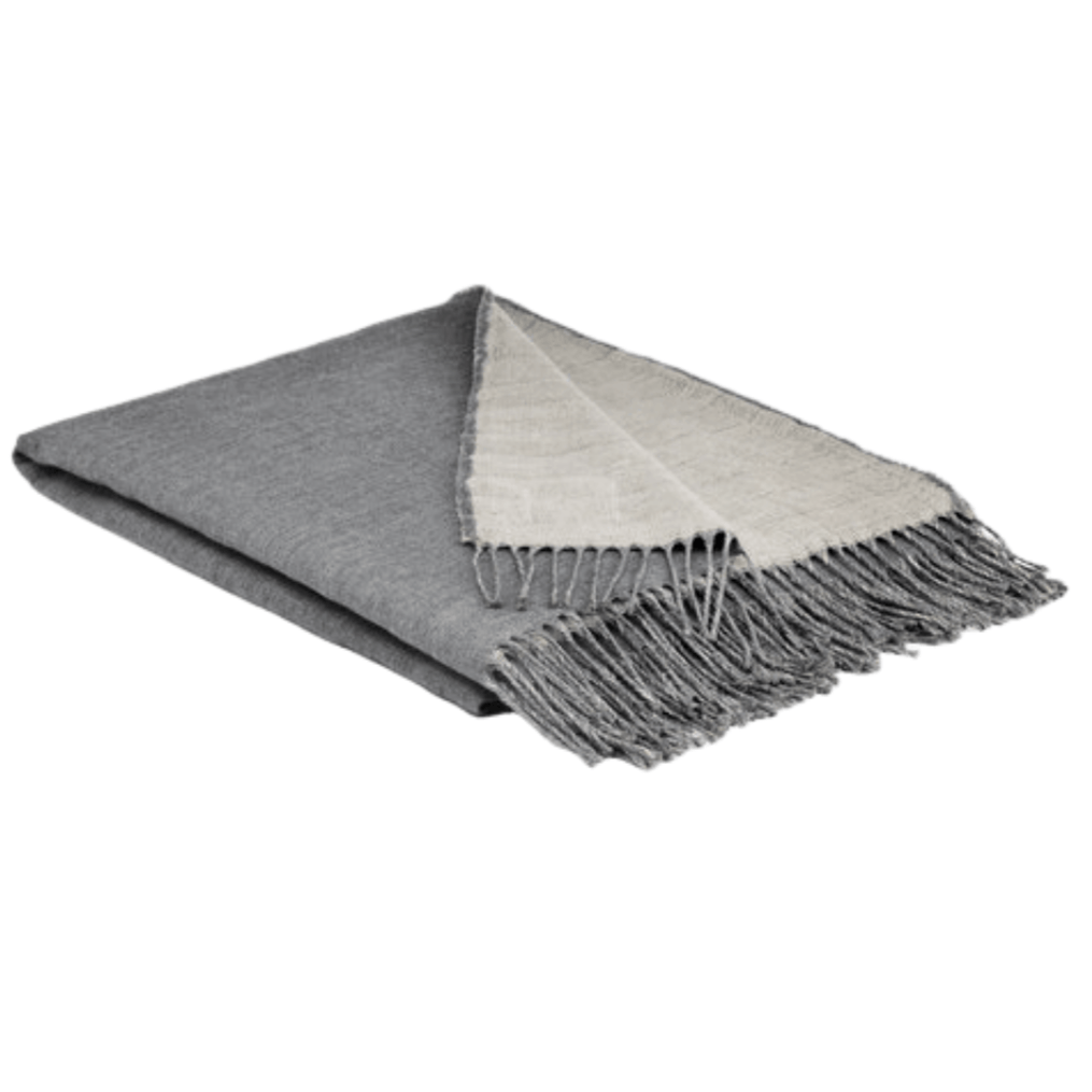 Ash Irish Linen and Merino Reversible Throw - Barnbury