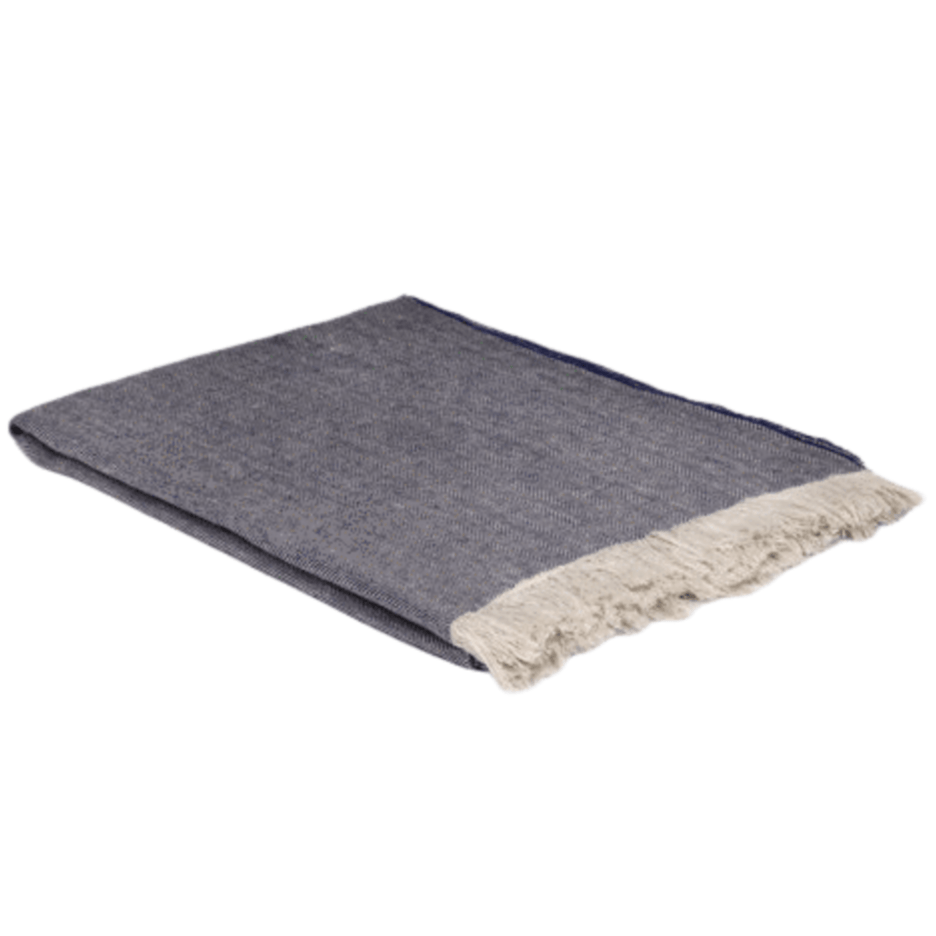 Denim Linen Throw - Barnbury