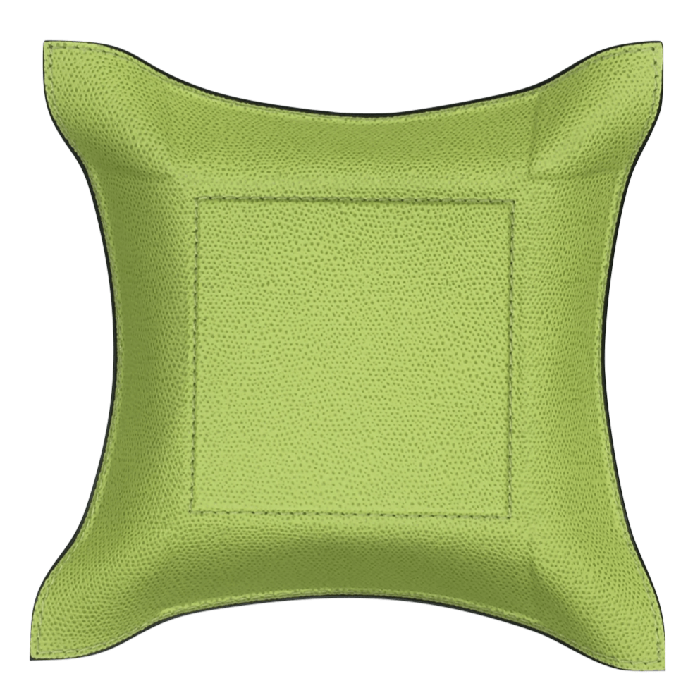 Acid Green Calfskin Valet Tray