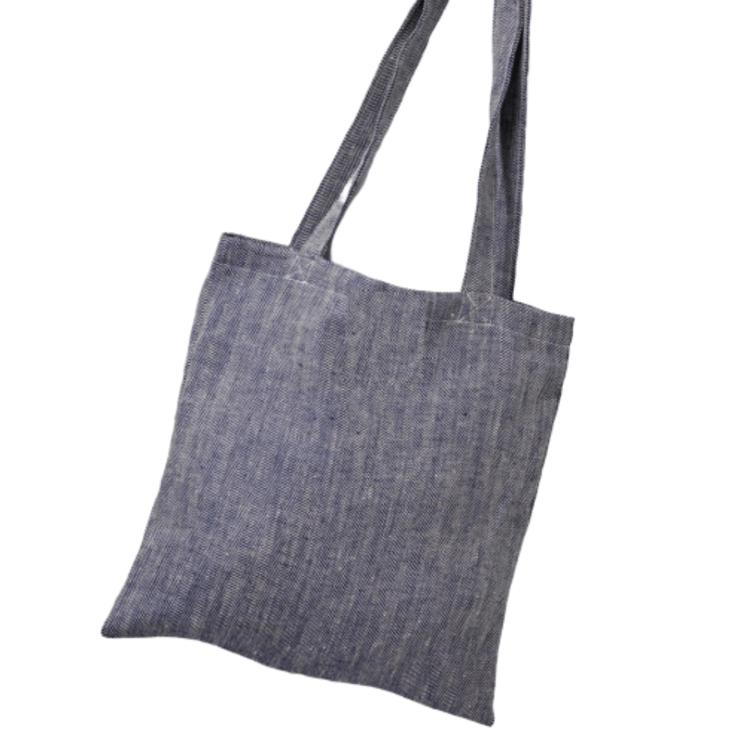 Navy Linen Shopper