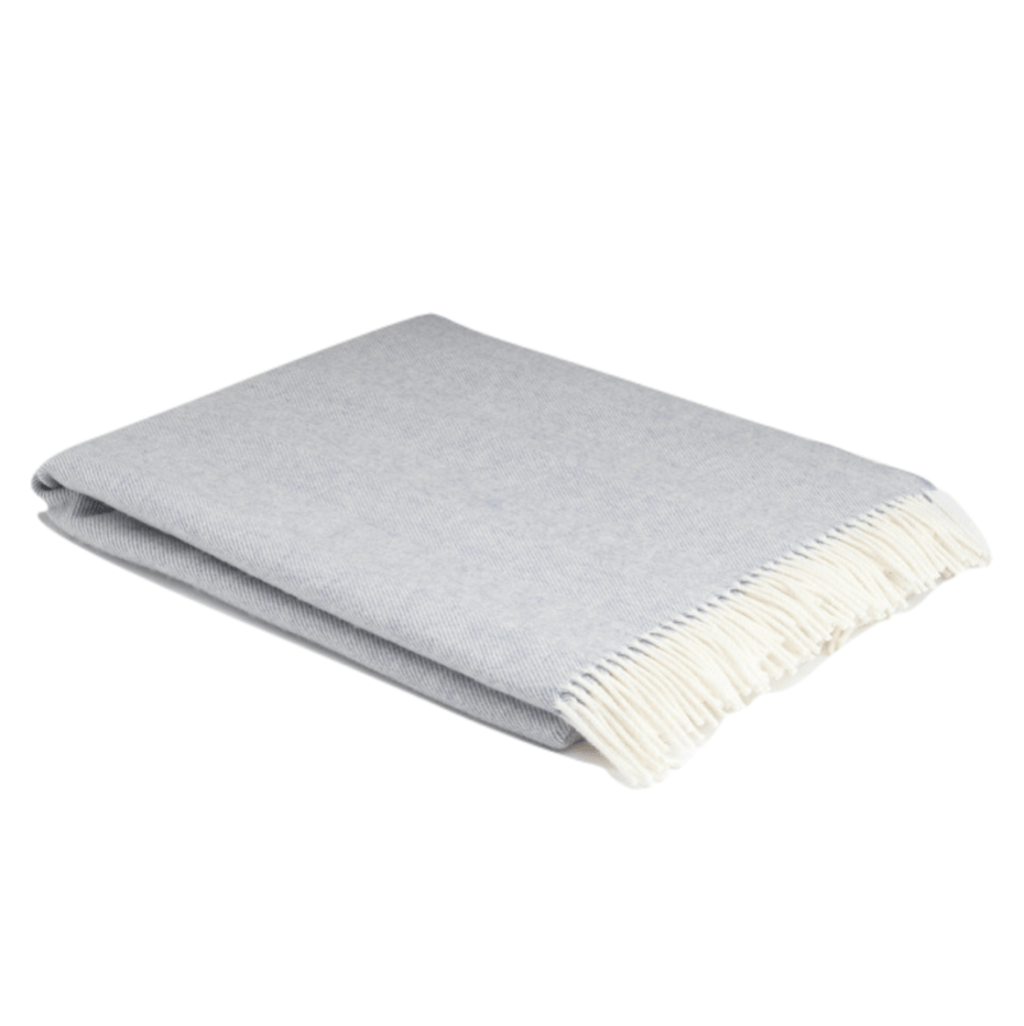 XL Smoke Super Soft Herringbone Wool Throw - Barnbury