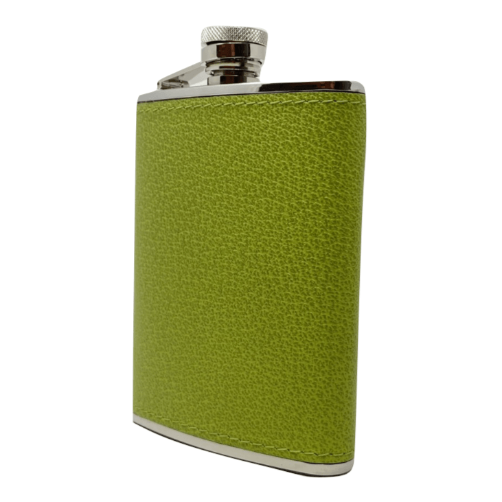 Green Calfskin Hip Flask - Barnbury
